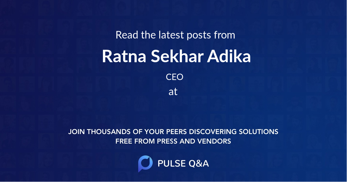Ratna Sekhar Adika
