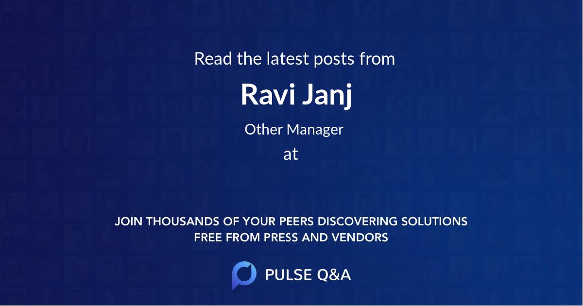 Ravi Janj