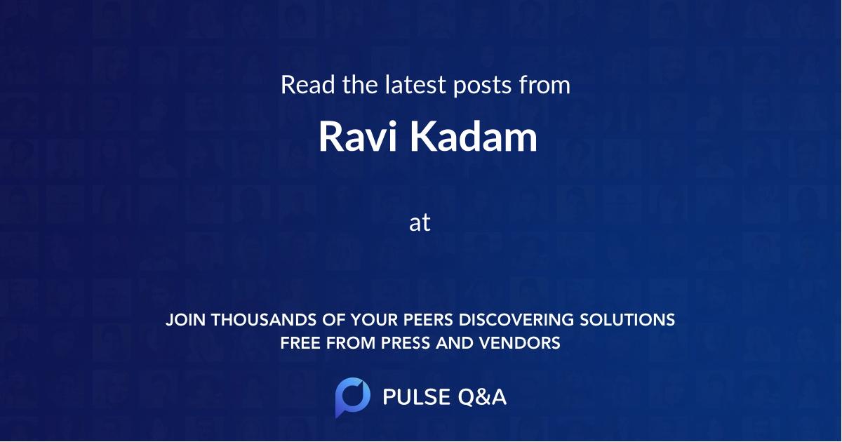 Ravi Kadam