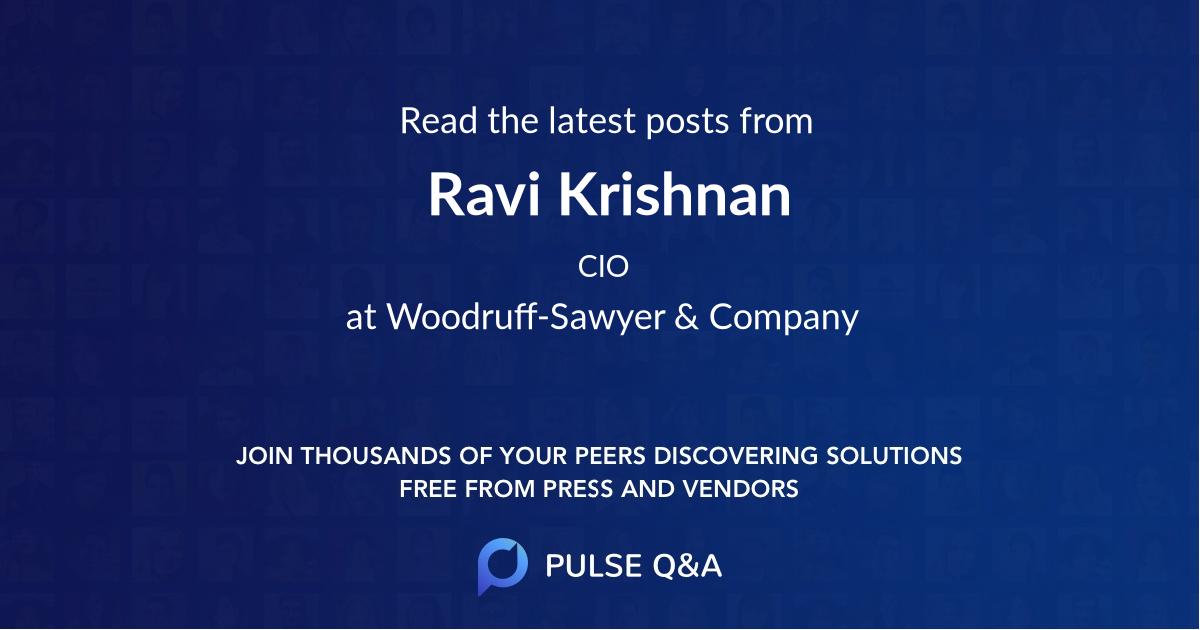 Ravi Krishnan