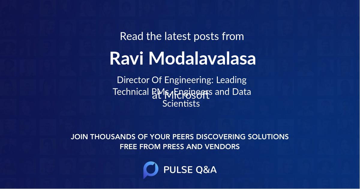 Ravi Modalavalasa