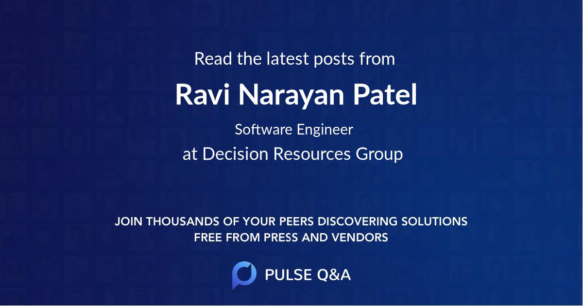 Ravi Narayan Patel