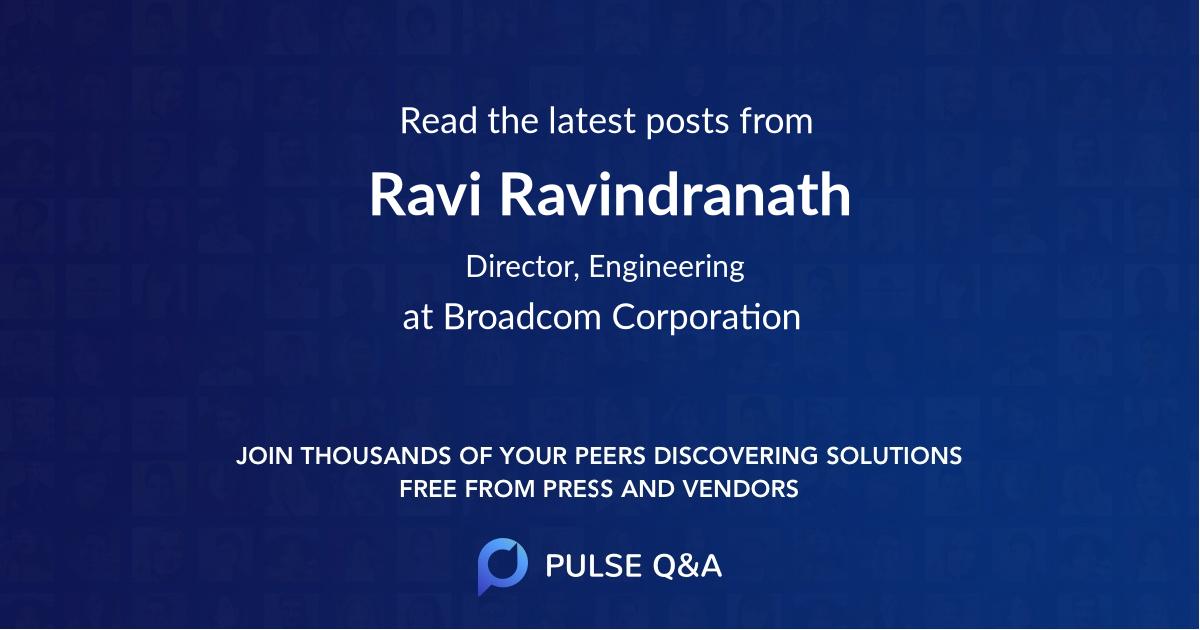 Ravi Ravindranath