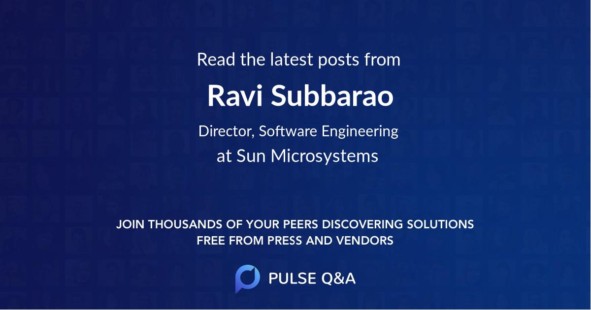 Ravi Subbarao