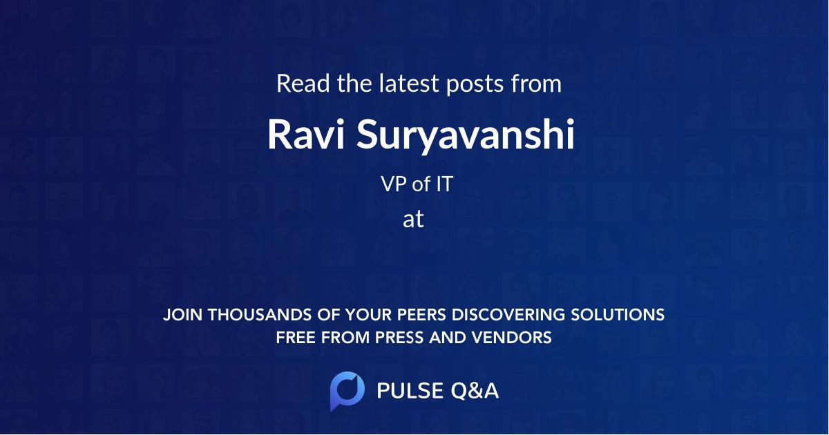 Ravi Suryavanshi
