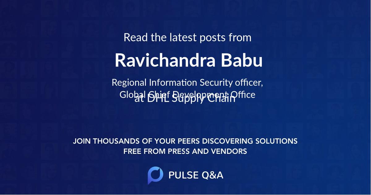 Ravichandra Babu