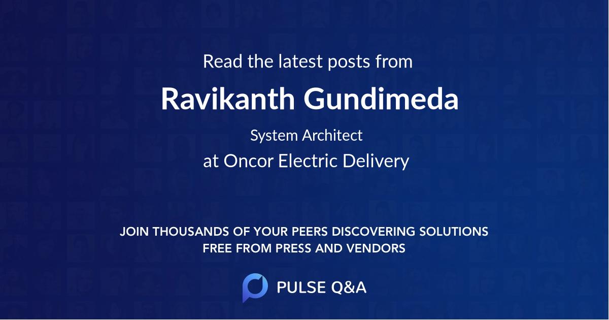 Ravikanth Gundimeda