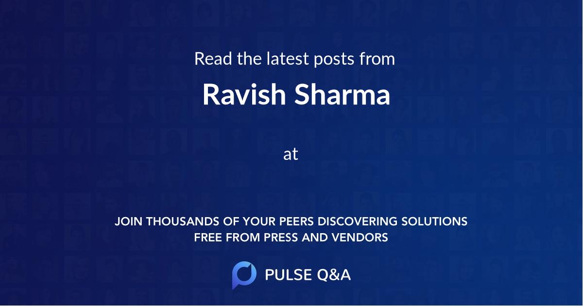 Ravish Sharma