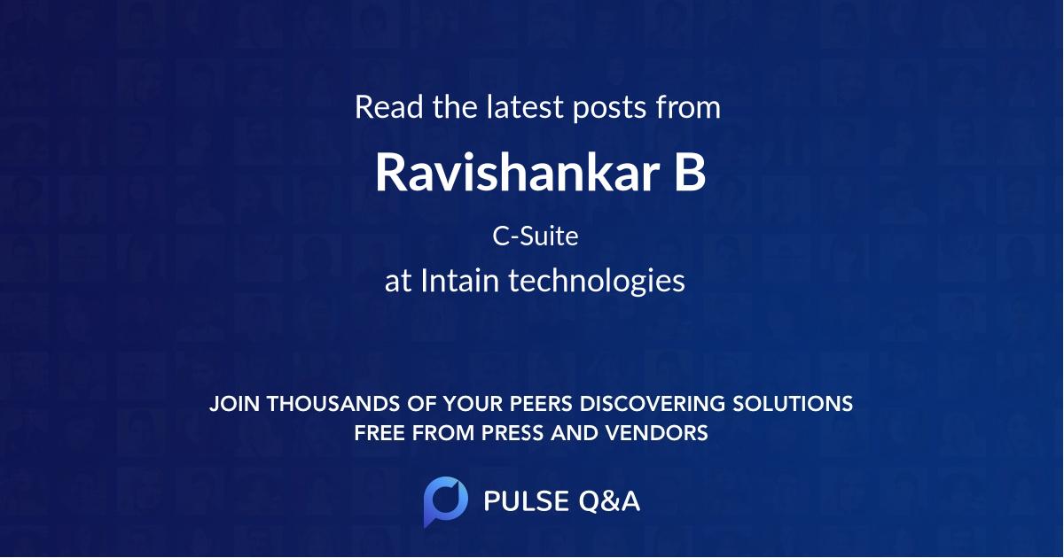 Ravishankar B
