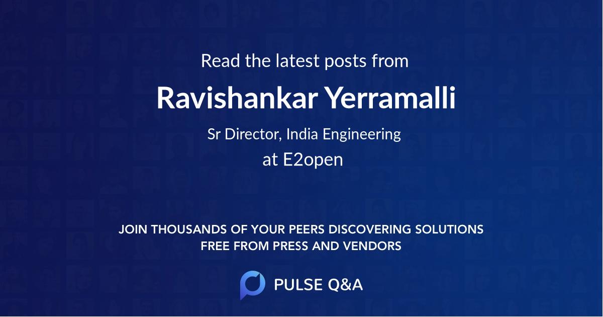 Ravishankar Yerramalli