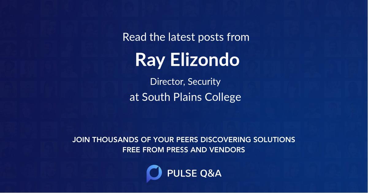 Ray Elizondo