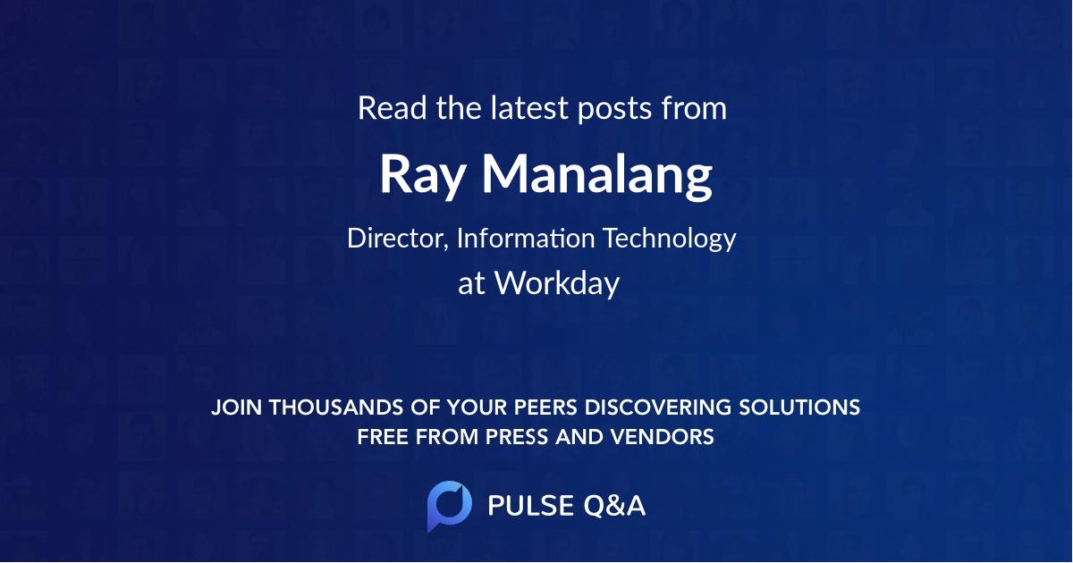 Ray Manalang