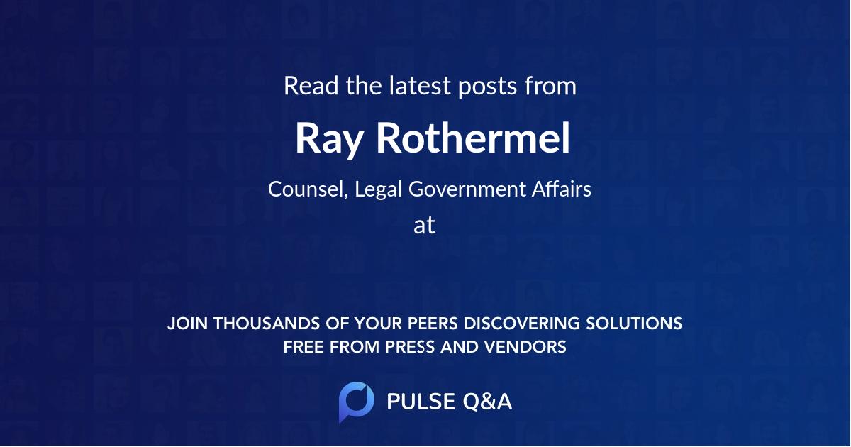 Ray Rothermel