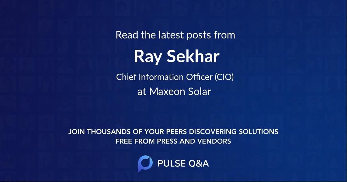 Ray Sekhar