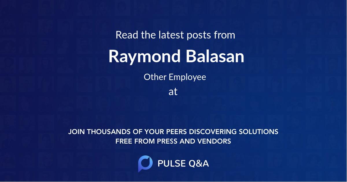 Raymond Balasan