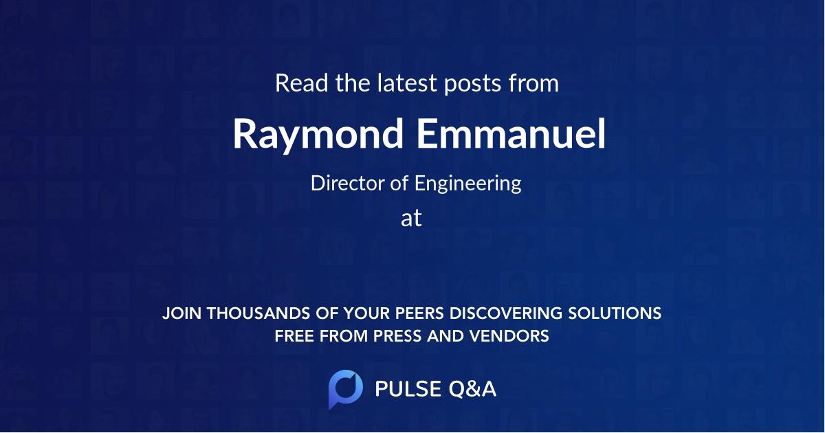 Raymond Emmanuel
