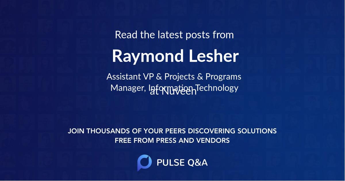 Raymond Lesher