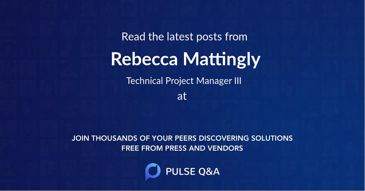 Rebecca Mattingly