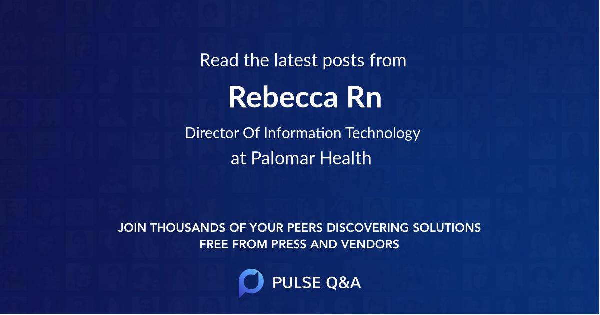 Rebecca Rn