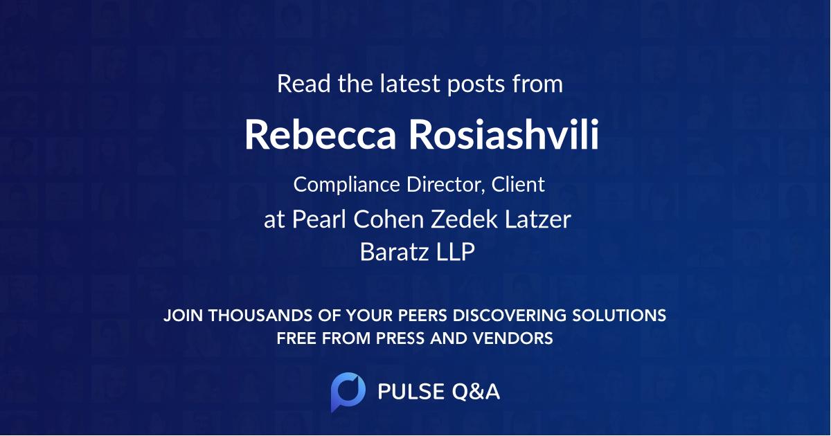 Rebecca Rosiashvili