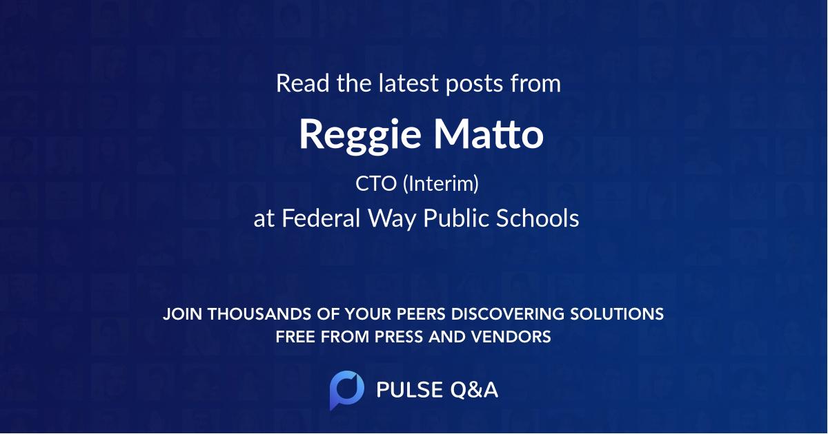 Reggie Matto