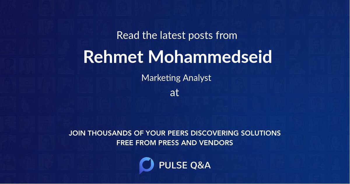 Rehmet Mohammedseid
