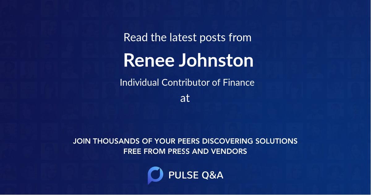 Renee Johnston