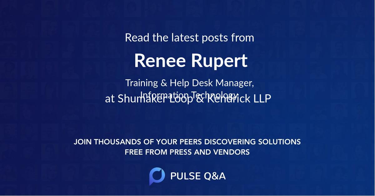 Renee Rupert