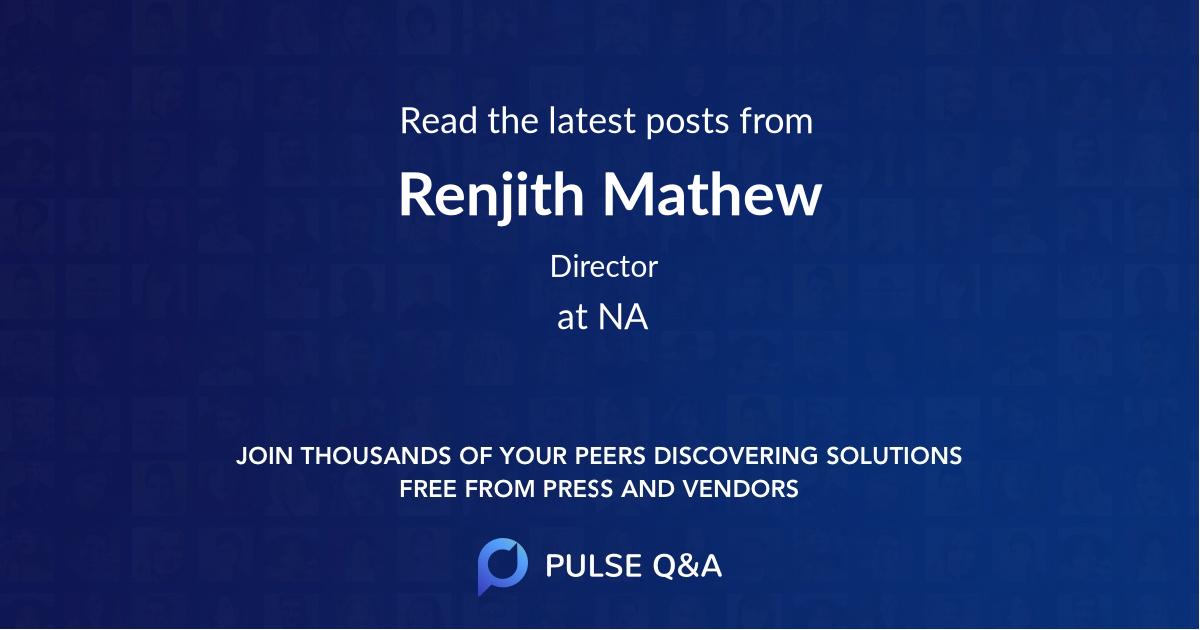 Renjith Mathew
