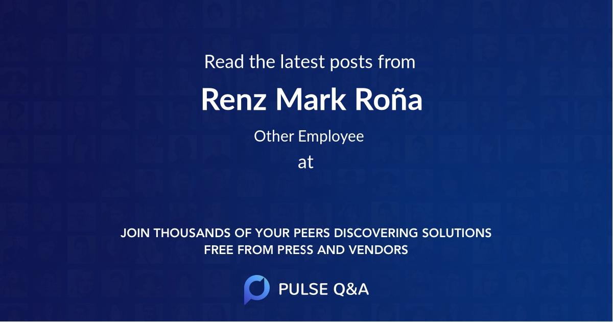 Renz Mark Roña