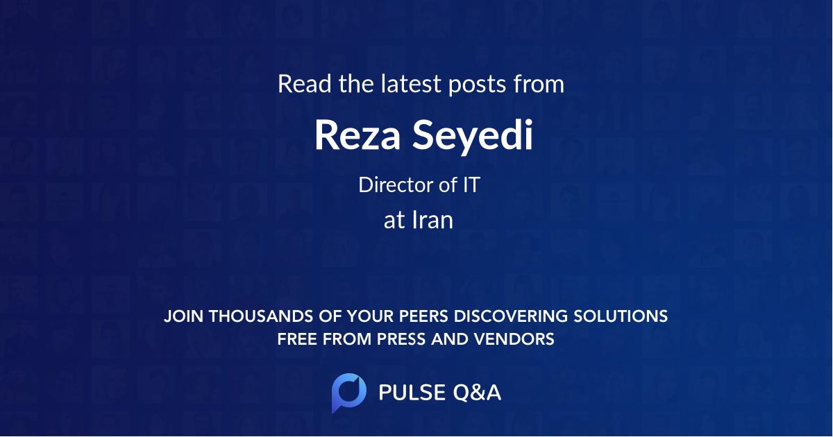 Reza Seyedi