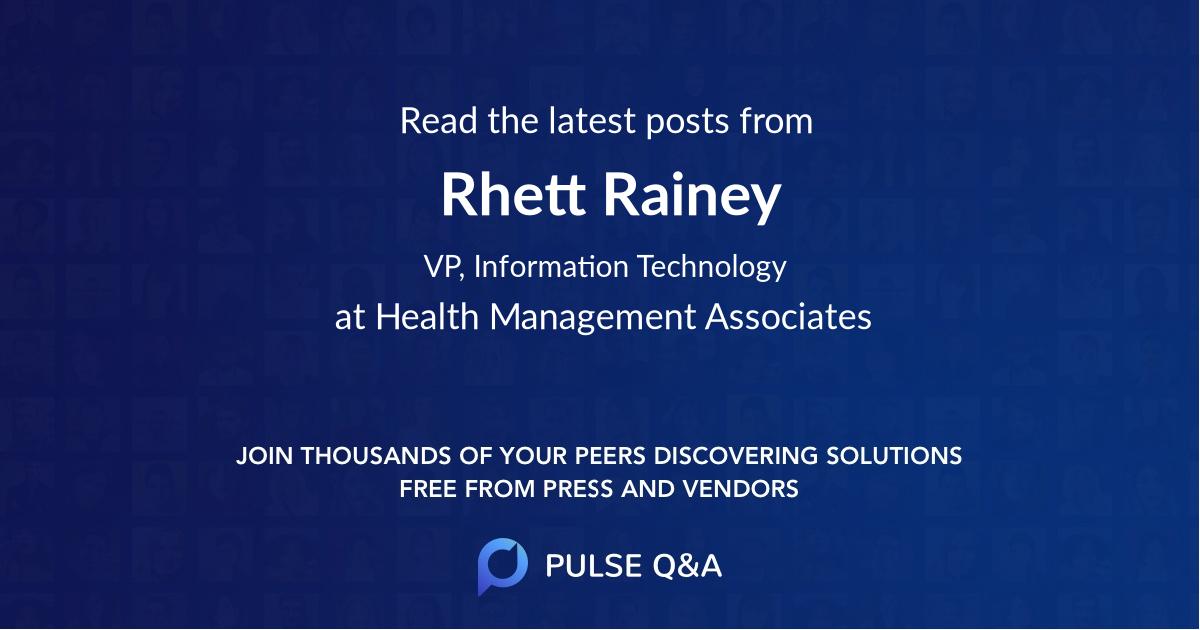 Rhett Rainey