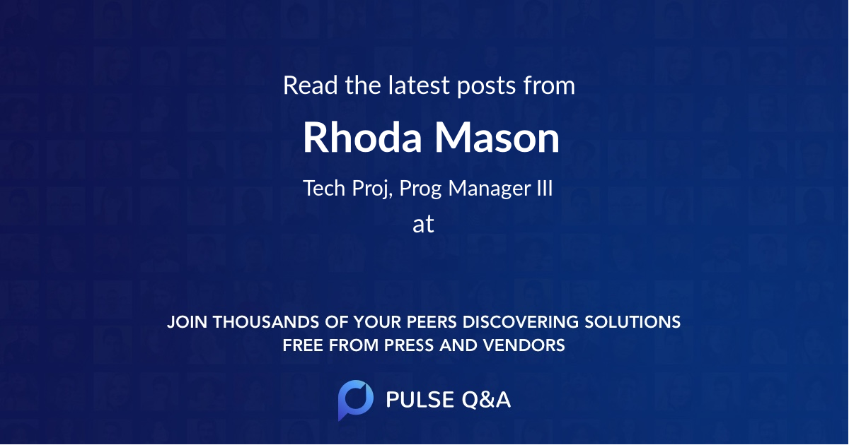 Rhoda Mason