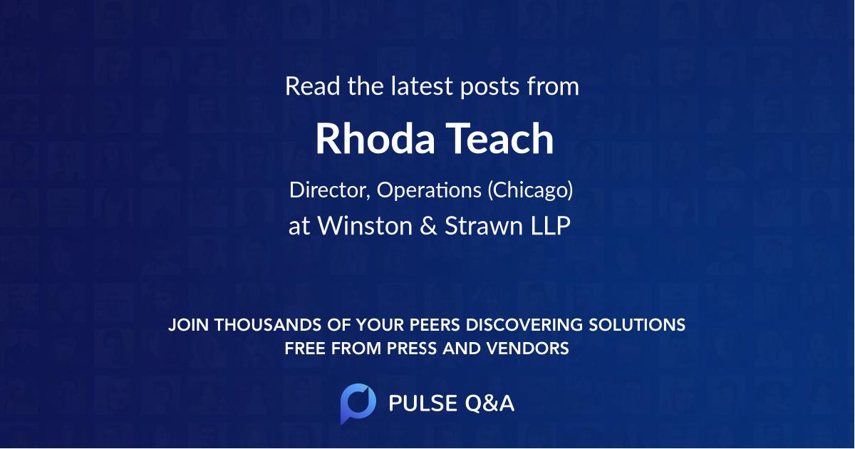 Rhoda Teach