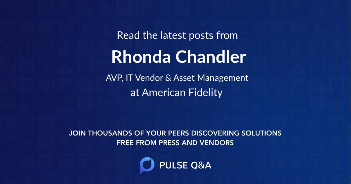 Rhonda Chandler