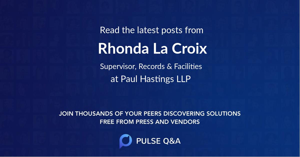 Rhonda La Croix