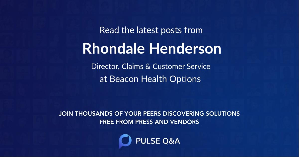 Rhondale Henderson