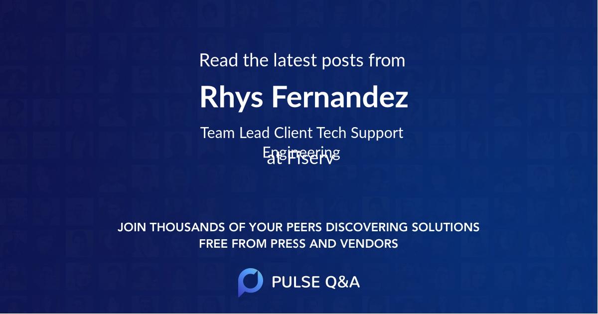 Rhys Fernandez