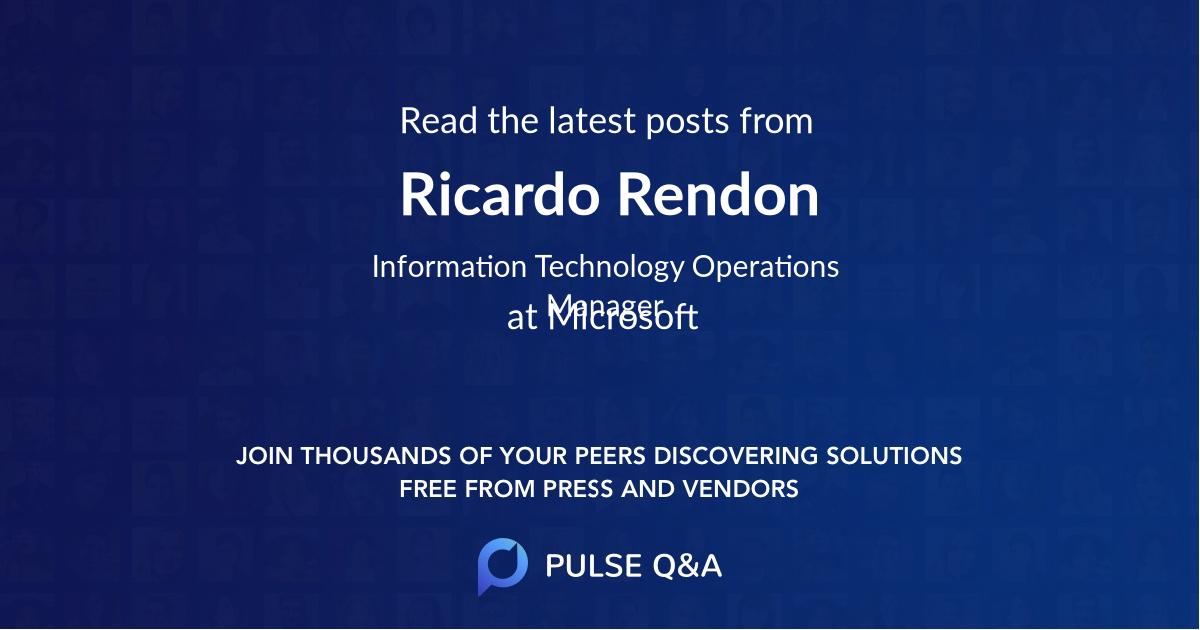Ricardo Rendon
