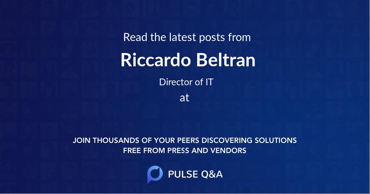 Riccardo Beltran