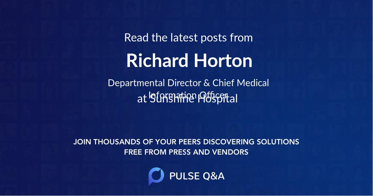 Richard Horton