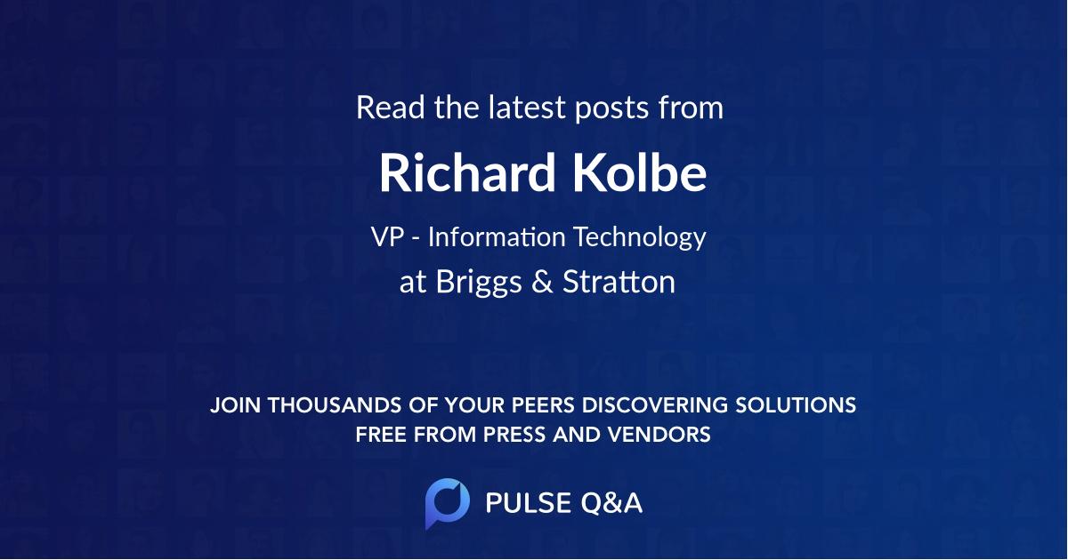 Richard Kolbe