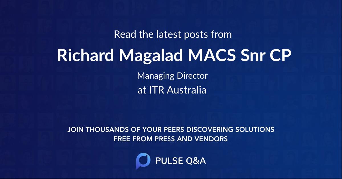 Richard Magalad MACS Snr CP