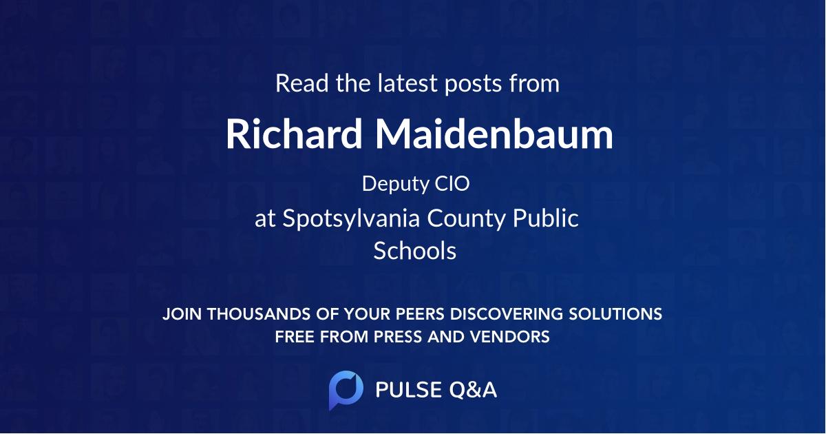 Richard Maidenbaum
