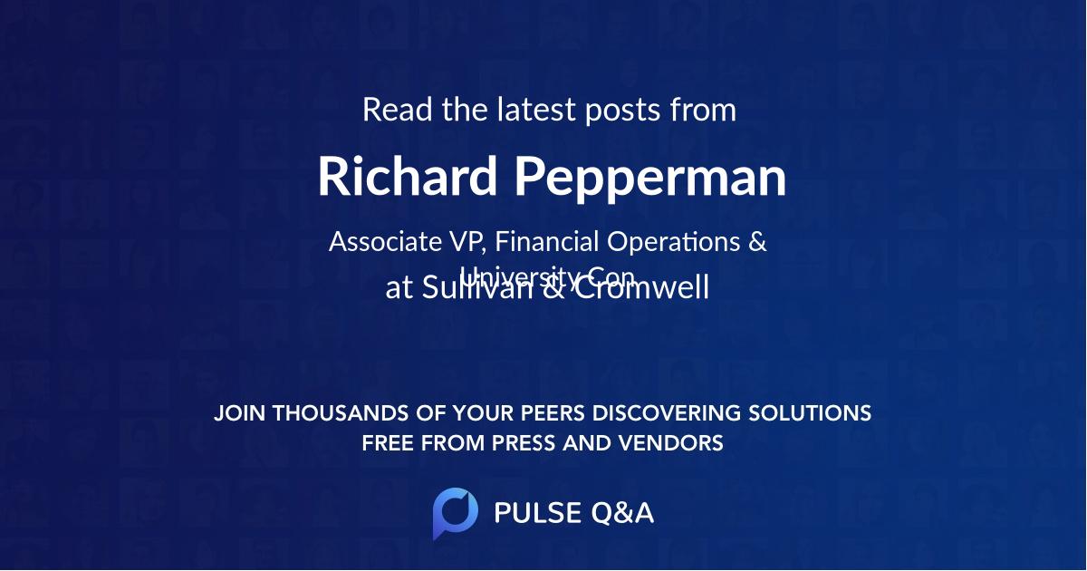 Richard Pepperman