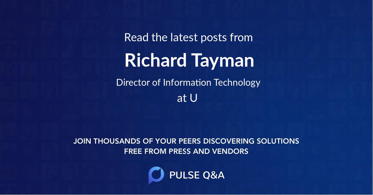 Richard Tayman