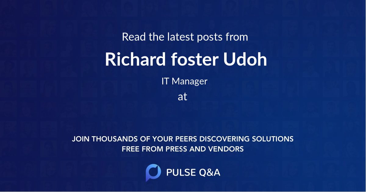 Richard foster Udoh