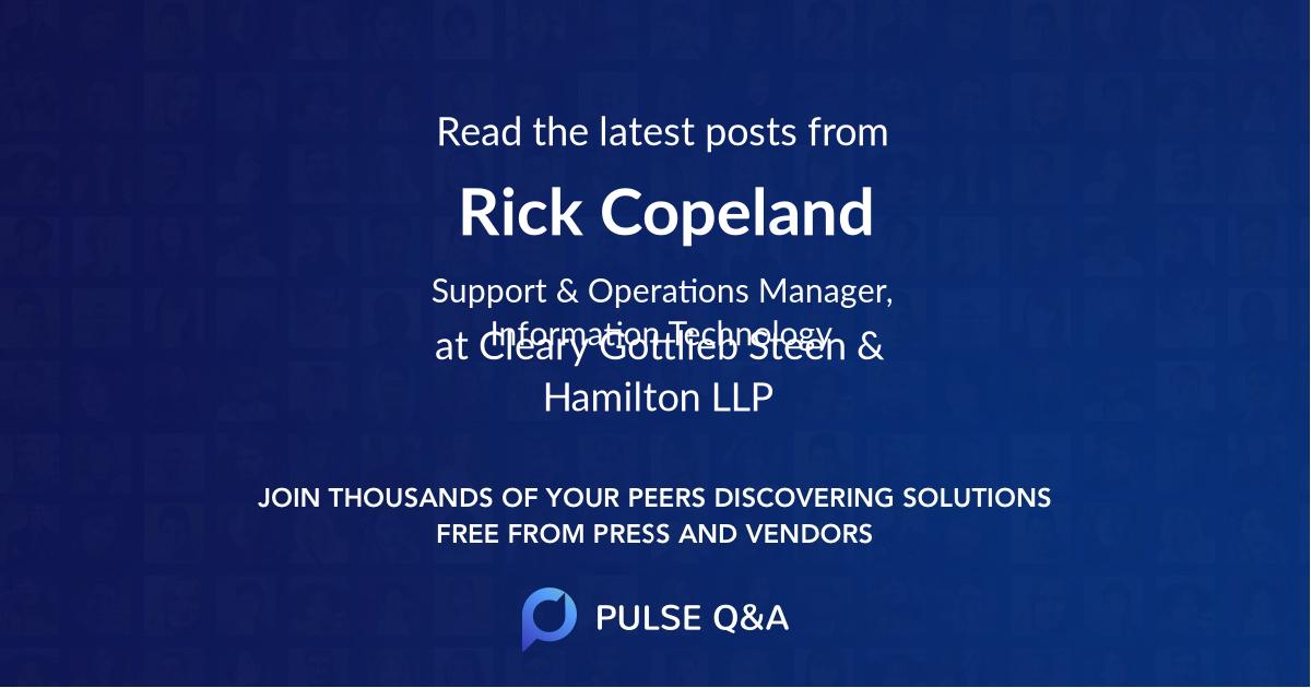 Rick Copeland