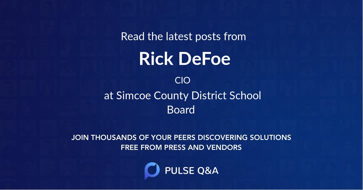 Rick DeFoe
