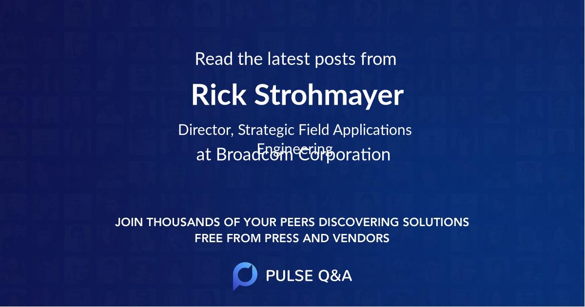 Rick Strohmayer